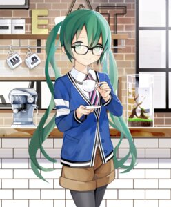 Rating: Safe Score: 34 Tags: hatsune_miku kari_kenji megane pantyhose vocaloid User: Mr_GT