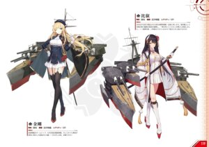 Rating: Safe Score: 13 Tags: azur_lane heels hiei_(azur_lane) kongou_(azur_lane) stockings sword thighhighs uniform User: Twinsenzw