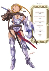 Rating: Questionable Score: 9 Tags: armor hisayuki_hirokazu leina queen's_blade sword User: YamatoBomber