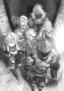 Rating: Safe Score: 16 Tags: armor dwarf_shman elf goblin_slayer goblin_slayer_(character) high_elf_archer kannatsuki_noboru lizard_priest monochrome pointy_ears priestess sword thighhighs weapon User: kiyoe