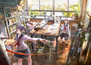 Rating: Safe Score: 28 Tags: headphones megane seifuku shirakaba User: blooregardo