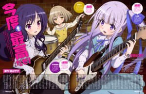 Rating: Safe Score: 39 Tags: dress goto_jun guitar kaneshiro_sora kikuta_kouichi momijidani_nozomi tenshi_no_three_piece! User: drop