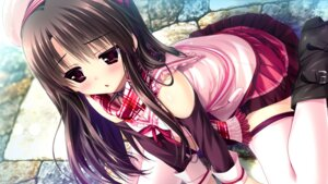 Rating: Safe Score: 97 Tags: clochette game_cg kugayama_konoka prism_recollection shintarou thighhighs User: WtfCakes