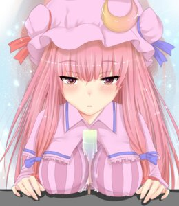 Rating: Questionable Score: 18 Tags: erect_nipples nuko_(mikupantu) patchouli_knowledge touhou User: fairyren
