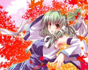 Rating: Safe Score: 5 Tags: kochiya_sanae makipuni touhou wallpaper User: konstargirl