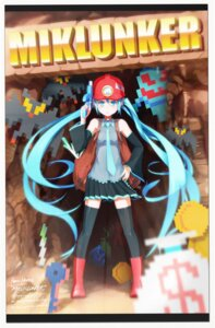 Rating: Safe Score: 10 Tags: hatsune_miku pomon_illust thighhighs vocaloid User: eridani