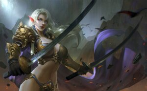 Rating: Safe Score: 20 Tags: armor bikini_armor cg-d cleavage pointy_ears sword User: charunetra