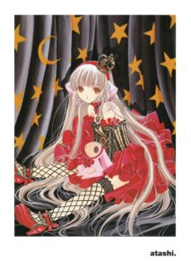 Rating: Safe Score: 14 Tags: chii chobits clamp dress fishnets lolita_fashion thighhighs User: Share