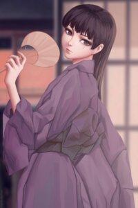 Rating: Safe Score: 9 Tags: hitsuji_no_uta kimono miura_naoko signed takashiro_chizuna User: charunetra