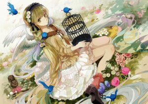 Rating: Safe Score: 32 Tags: dress michi_(iawei) vocaloid wings User: 麻里子