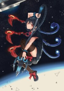 Rating: Questionable Score: 9 Tags: goback houjuu_nue skirt_lift thighhighs touhou weapon wings User: Dreista