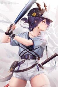 Rating: Safe Score: 26 Tags: arknights bandaid baseball ch'en_(arknights) horns sword tail taitai thighhighs uniform User: Mr_GT