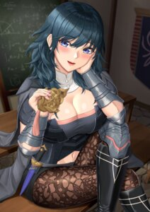 Rating: Safe Score: 20 Tags: armor byleth_(fire_emblem) cleavage fire_emblem fire_emblem_three_houses nemunemu_semi pantyhose weapon User: Arsy