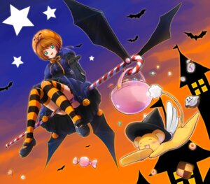 Rating: Safe Score: 13 Tags: card_captor_sakura dress eri_(resia) halloween kerberos kinomoto_sakura thighhighs wings User: Mr_GT