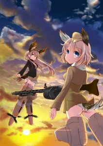 Rating: Questionable Score: 21 Tags: animal_ears ass gun hanna-justina_marseille pantsu raisa_pottgen strike_witches suomio tail uniform User: Mr_GT