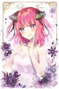Rating: Safe Score: 51 Tags: 5-toubun_no_hanayome breast_hold cleavage dress nakano_nino see_through taya_5323203 User: kiyoe
