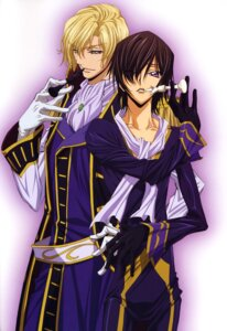 Rating: Safe Score: 17 Tags: code_geass lelouch_lamperouge male sakou_yukie schneizel_el_britannia yaoi User: vita