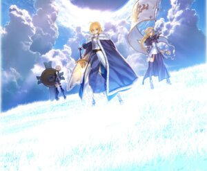Rating: Questionable Score: 41 Tags: armor fate/apocrypha fate/grand_order fate/stay_night jeanne_d'arc jeanne_d'arc_(fate/apocrypha) saber shielder_(fate/grand_order) sword takeuchi_takashi thighhighs type-moon User: acas