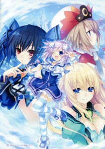 Rating: Questionable Score: 19 Tags: blanc choujigen_game_neptune kami_jigen_game_neptune_v neptune noire tsunako vert User: Radioactive