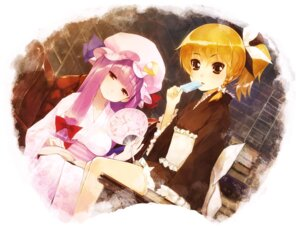 Rating: Safe Score: 17 Tags: kirisame_marisa patchouli_knowledge purupurusan touhou User: fireattack