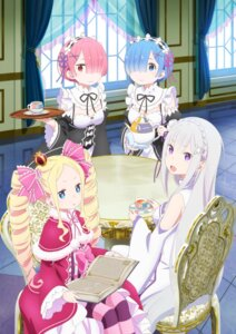 Rating: Safe Score: 77 Tags: beatrice_(re_zero) cleavage digital_version dress emilia_(re_zero) maid pointy_ears ram_(re_zero) re_zero_kara_hajimeru_isekai_seikatsu rem_(re_zero) tagme User: saemonnokami