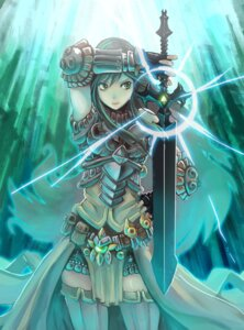 Rating: Safe Score: 34 Tags: armor mole sword thighhighs User: Radioactive