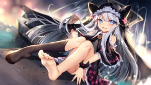 Rating: Safe Score: 54 Tags: bison dress feet tagme wallpaper witch_weapon User: BattlequeenYume