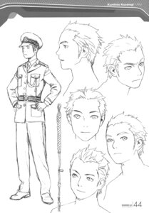 Rating: Safe Score: 4 Tags: character_design kusanagi_kunihito male monochrome range_murata shangri-la sketch User: Share