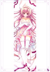 Rating: Questionable Score: 53 Tags: breasts dakimakura dress natsuki_coco nipples pantsu skirt_lift thighhighs User: crim