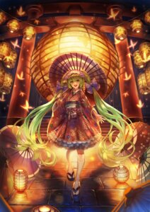 Rating: Safe Score: 26 Tags: hatsune_miku japanese_clothes kabu_(e90vwggy) umbrella vocaloid User: Mr_GT