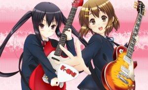 Rating: Safe Score: 13 Tags: guitar hirasawa_yui k-on! nakano_azusa seifuku yuyui User: Manabi