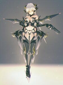Rating: Questionable Score: 89 Tags: cleavage gun kawanakajima maebari mecha_musume stockings tail thighhighs wings User: Radioactive
