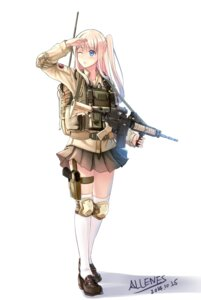 Rating: Safe Score: 47 Tags: allenes autographed gun thighhighs uniform User: zero|fade