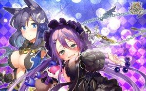 Rating: Questionable Score: 14 Tags: animal_ears brave_girl_ravens cleavage gothic_lolita lolita_fashion miya_kazutomo no_bra tsukimiya_sei wallpaper weapon User: zyll
