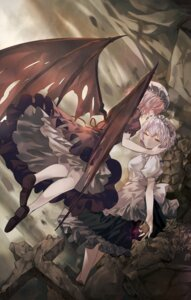 Rating: Safe Score: 22 Tags: elise_(piclic) heels izayoi_sakuya remilia_scarlet touhou wings User: Mr_GT