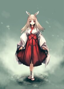 Rating: Safe Score: 30 Tags: animal_ears bunny_ears hitomaru miko User: Radioactive