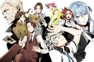 Rating: Safe Score: 27 Tags: agata_katsuhira amari business_suit crossover hajime_tenga joker_game kiznaiver megane miwa_shirow miyoshi_(joker_game) seifuku sozozaki_noriko sword takashiro_chidori User: animeprincess