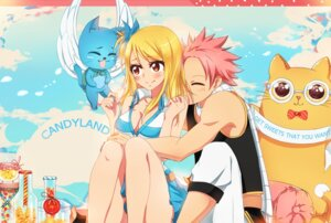 Rating: Safe Score: 10 Tags: cleavage fairy_tail happy_(fairy_tail) kristallin-f lucy_heartfilia megane natsu_dragneel neko wings User: charunetra