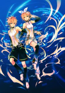 Rating: Safe Score: 19 Tags: headphones kagamine_len kagamine_rin len_append mg_(3458) rin_append thighhighs vocaloid vocaloid_append User: charunetra