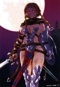 Rating: Questionable Score: 21 Tags: armor blood cleavage leina queen's_blade sword thighhighs tsukino_jougi User: YamatoBomber