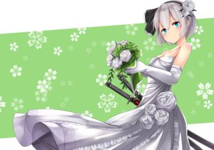 Rating: Safe Score: 37 Tags: cleavage dress elusya erect_nipples konpaku_youmu sword touhou wedding_dress User: Mr_GT