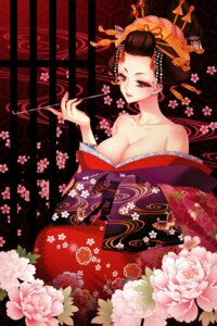 Rating: Questionable Score: 21 Tags: cleavage kimono momoi_komomo User: 椎名深夏