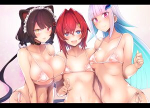 Rating: Questionable Score: 38 Tags: 30min-5000yen animal_ears areola cleavage erect_nipples heterochromia kagami_uekusa nekomimi nijisanji see_through User: kiyoe