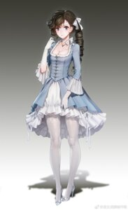 Rating: Safe Score: 85 Tags: cleavage dress heels quuni thighhighs watermark User: NotRadioactiveHonest