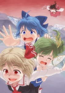 Rating: Safe Score: 10 Tags: cirno daiyousei hakurei_reimu rumia touhou usfdive wings User: Mr_GT