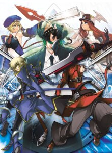 Rating: Safe Score: 11 Tags: blazblue gun hazama kisaragi_jin noel_vermillion ragna_the_bloodedge sword tsubaki_yayoi User: Radioactive