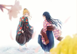 Rating: Safe Score: 12 Tags: ayase_eli japanese_clothes love_live! sonoda_umi tagme wet User: Spidey