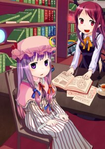 Rating: Safe Score: 5 Tags: koakuma muku_(muku-coffee) patchouli_knowledge touhou User: Silvance