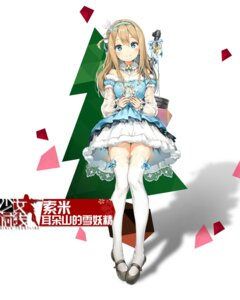 Rating: Safe Score: 89 Tags: anmi christmas dress girls_frontline gun see_through thighhighs User: WtfCakes