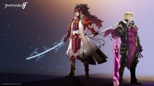 Rating: Safe Score: 10 Tags: armor fire_emblem_if kozaki_yuusuke nintendo ryoma_(fire_emblem) sword wallpaper warrior xander_(fire_emblem) User: fly24